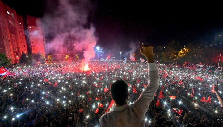 Ekrem Imamoglu celebrated a landmark win on Sunday in a closely watched repeat Istanbul mayoral election that ended weeks of political tension in Turkey. AP